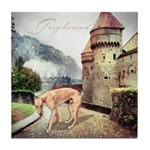 Castle Greyhound Tile Coaster