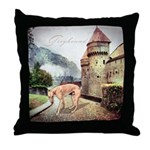 Castle Greyhound Throw Pillow