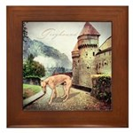 Castle Greyhound Framed Tile