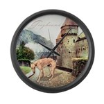 Castle Greyhound Large Wall Clock