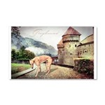 Castle Greyhound Car Magnet 20 x 12