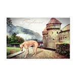 Castle Greyhound Mini Poster Print