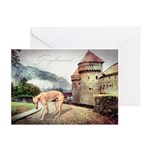Castle Greyhound Greeting Cards (Pk of 20)