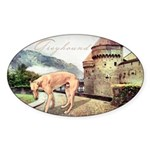 Castle Greyhound Sticker (Oval)