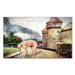 Castle Greyhound Sticker (Rectangle 50 pk)