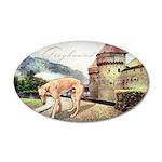Castle Greyhound 38.5 x 24.5 Oval Wall Peel
