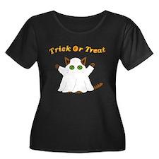 Halloween Ghost Cat T