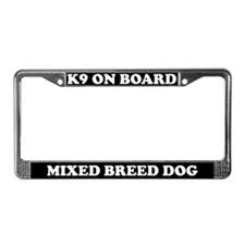 K9 On Board Mixed Breed Dog License Plate Frame