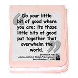 Tutu Good Quote baby blanket