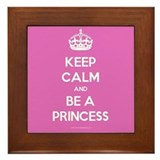 Keep Calm and Be A Princess Framed Tile