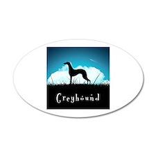 Nightsky Greyhound 38.5 x 24.5 Oval Wall Peel