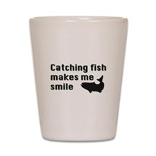 Catching Fish Shot Glass