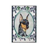 Miniature Pinscher Designer Rectangle Magnet (100