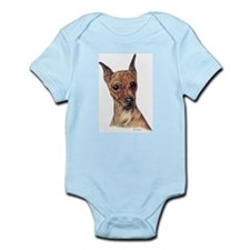 Red Min Pin Portrait Infant Creeper