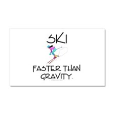TOP Ski Faster Car Magnet 20 x 12