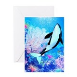 Orca 3 Greeting Card