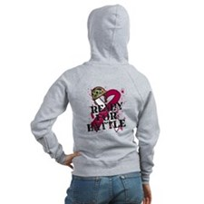 Battle Throat Cancer Zip Hoodie