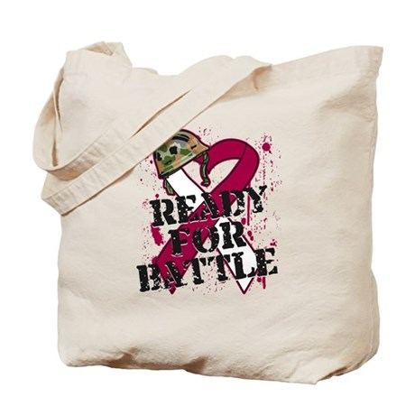 Battle Throat Cancer Tote Bag