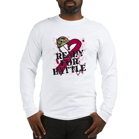 Battle Throat Cancer Long Sleeve T-Shirt
