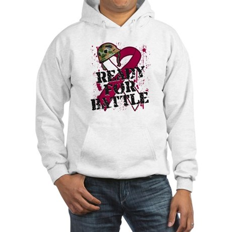 Battle Throat Cancer Hooded Sweatshirt