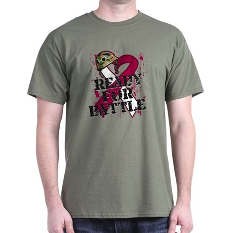 Battle Throat Cancer Dark T-Shirt