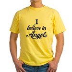 I BELIEVE IN ANGELS Yellow T-Shirt