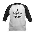I BELIEVE IN ANGELS Kids Baseball Jersey