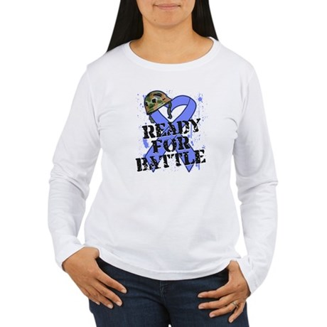 Battle Stomach Cancer Women's Long Sleeve T-Shirt