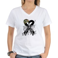 Battle Skin Cancer Women's V-Neck T-Shirt