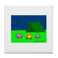 CAMPING ROCKS (CARTOON LOOK) Tile Coaster