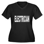 Electrician Women's Plus Size V-Neck Dark T-Shirt