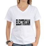 Electrician Women's V-Neck T-Shirt