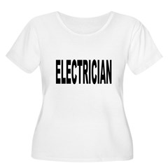 Electrician Women's Plus Size Scoop Neck T-Shirt