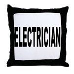Electrician Throw Pillow