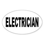 Electrician Sticker (Oval 10 pk)
