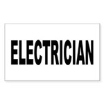 Electrician Sticker (Rectangle 50 pk)