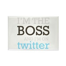 Twitter Boss Rectangle Magnet