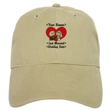 Just Married (Add Names & Wedding Date) Baseball Cap