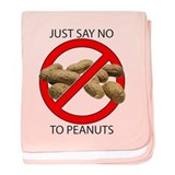 Just Say No to Peanuts baby blanket