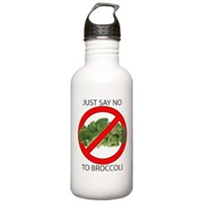 Just Say No to Broccoli Water Bottle
