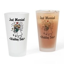 Just Married (Add Your Wedding Date) Drinking Glas