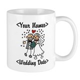 Just Married (Add Names & Wedding Date) Small Mug