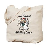 Just Married (Add Names &amp; Wedding Date) Tote Bag