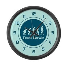 Team Darwin (Teal) Large Wall Clock