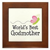 Cute Godparents Framed Tile