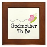 Godmother To Be Framed Tile