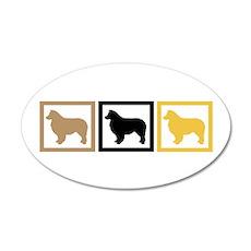 Australian Shepherd Dog 38.5 x 24.5 Oval Wall Peel