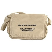 Atheist Messenger Bag