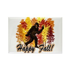 Fall Bigfoot Sasquatch Yetti Rectangle Magnet