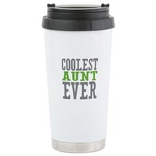 Coolest Aunt Ever Stainless Steel Travel Mug